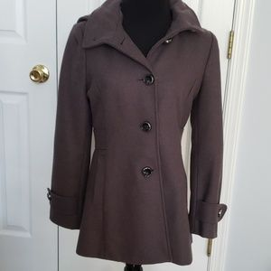 Kenneth Cole Gray Size 6 wool Coat